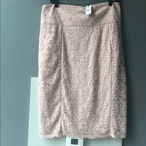 Lace Nude Pink Skirt High Waist size 12